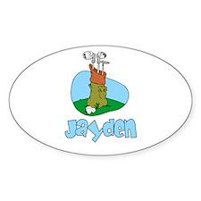 Jayden Oval Decal