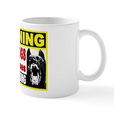 Warning Guard Dogs Mug