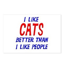 I Like Cats Postcards (Package of 8)
