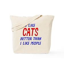 I Like Cats Tote Bag