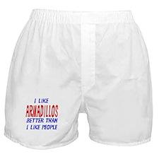 I Like Armadillos Boxer Shorts