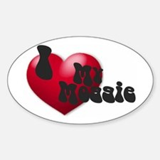 """""""I Love My Moggie!"""" Oval Decal"""