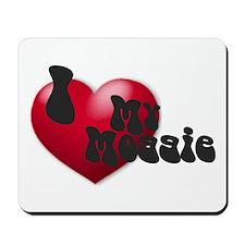 """I Love My Moggie!"" Mousepad"