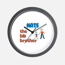 Nate - The Big Brother  Wall Clock
