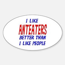 I Like Anteaters Oval Decal