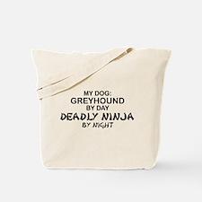 Greyhound Deadly Ninja Tote Bag