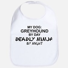 Greyhound Deadly Ninja Bib