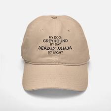 Greyhound Deadly Ninja Baseball Baseball Cap