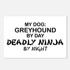 Greyhound Deadly Ninja Postcards (Package of 8)