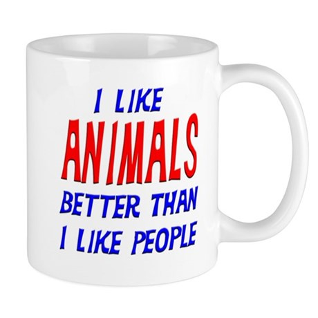 I Like Animals Mug