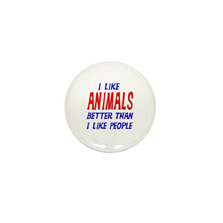 I Like Animals Mini Button