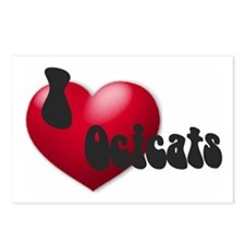"""I Love Ocicats!"" Postcards (Package of 8)"