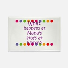 What happens at Nana's stays Rectangle Magnet