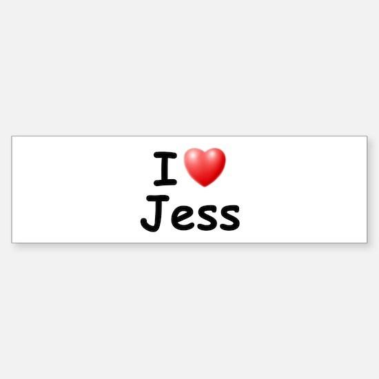 I Love Jess (Black) Bumper Bumper Bumper Sticker
