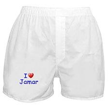 I Love Jamar (Blue) Boxer Shorts