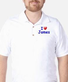 I Love James (Blue) Golf Shirt