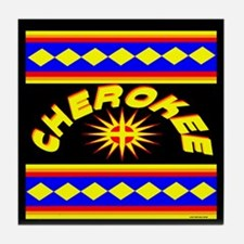 CHEROKEE INDIAN Tile Coaster
