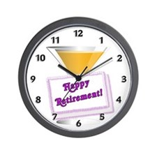 Happy Retirement Wall Clock