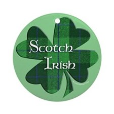 Scotch Irish Shamrock Ornament (Round)