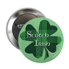 "Scotch Irish Shamrock 2.25"" Button"
