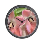 Pink Tulips In Bloom Wall Clock