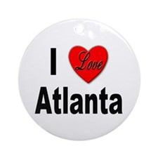 I Love Atlanta Keepsake (Round)