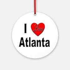 I Love Atlanta Keepsake (Round)