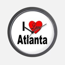 I Love Atlanta Wall Clock