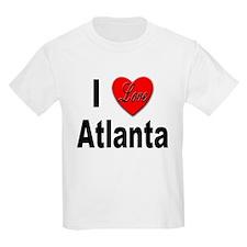 I Love Atlanta (Front) Kids T-Shirt