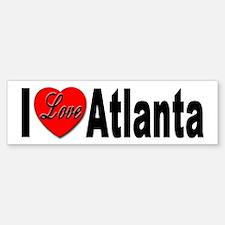 I Love Atlanta Bumper Bumper Bumper Sticker