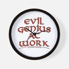 Evil Genius at Work Wall Clock