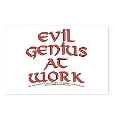 Evil Genius at Work Postcards (Package of 8)