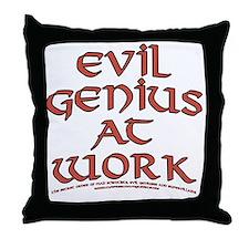 Evil Genius at Work Throw Pillow