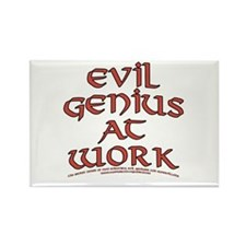 Evil Genius at Work Rectangle Magnet