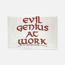Evil Genius at Work Rectangle Magnet