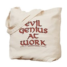 Evil Genius at Work Tote Bag
