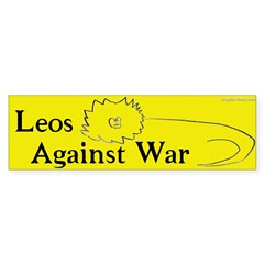 Leos Against War bumper sticker