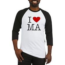 I Love Massachusetts (MA) Baseball Jersey