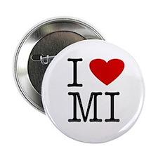 I Love Michigan (MI) Button