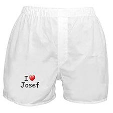 I Love Josef (Black) Boxer Shorts