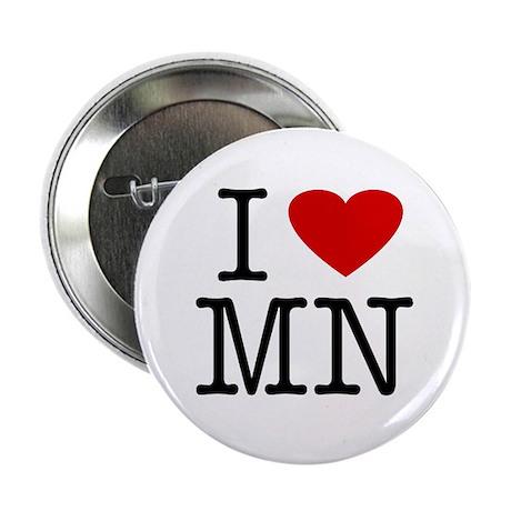 I Love Minnesota (MN) Button