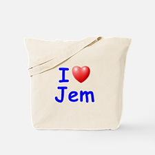 I Love Jem (Blue) Tote Bag