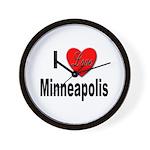 I Love Minneapolis Wall Clock