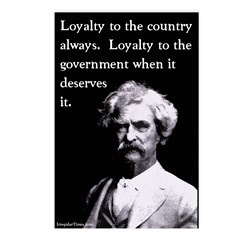 Mark Twain on Loyalty Postcards (Pack of 8)