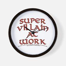 Supervillain at Work Wall Clock
