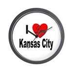 I Love Kansas City Wall Clock