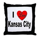 I Love Kansas City Throw Pillow