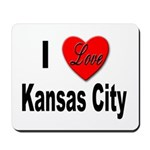 I Love Kansas City Mousepad