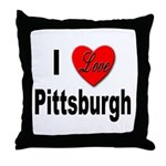 I Love Pittsburgh Throw Pillow