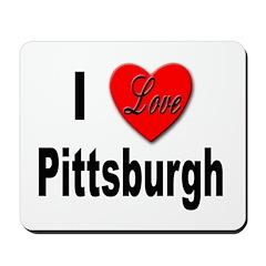 I Love Pittsburgh Mousepad